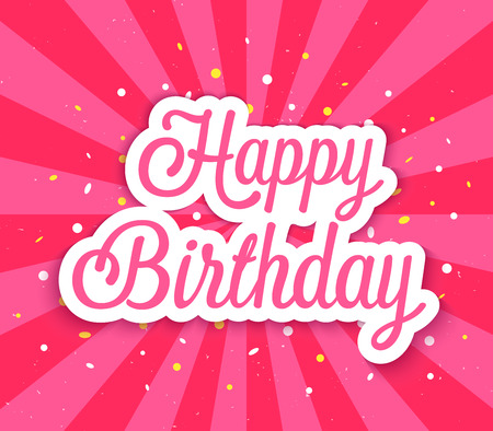 Happy Birthday greeting card. Vector illustration.