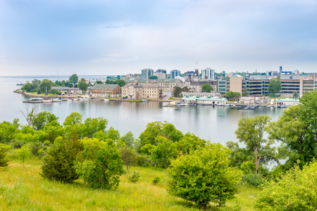 Photo pour View at the Kingston from Fort Henry Hill, Canada - image libre de droit