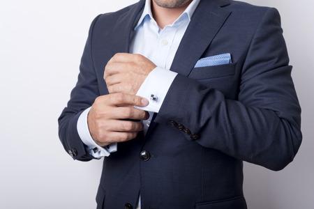 Foto de Man's style. dressing suit, shirt and cuffs - Imagen libre de derechos