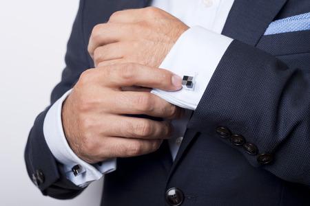 Photo pour Man's style. dressing suit, shirt and cuffs - image libre de droit