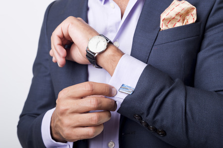 Photo pour Man's style. dressing suit, shirt and cuffs - image libre de droit