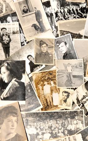 Photo pour Old family photos - image libre de droit