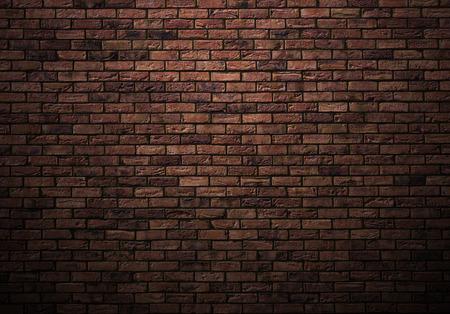 Foto de dimly lit old brick wall - Imagen libre de derechos