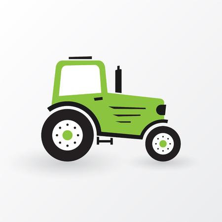 Illustration pour simple green farm tractor - image libre de droit