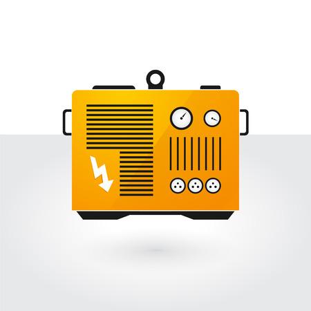 Ilustración de yellow generator - Imagen libre de derechos