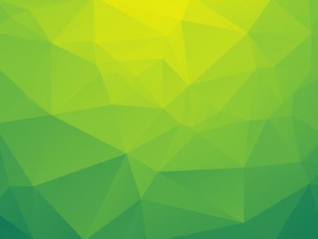 Ilustración de abstract triangular yellow green bio background - Imagen libre de derechos