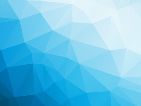 Illustration pour abstract triangular blue white winter background - image libre de droit