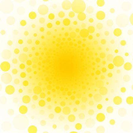 Illustration pour yellow background of small circles - image libre de droit