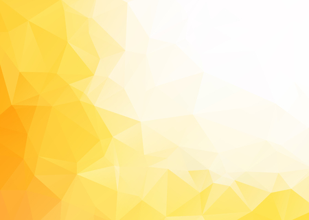 Illustration pour Vector abstract yellow white triangles background - image libre de droit