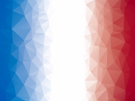 Illustration pour Abstract geometric blue white red triangular background - image libre de droit