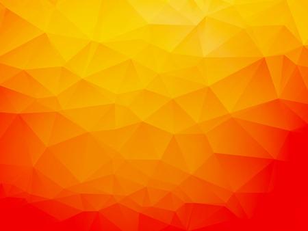 Illustration pour orange low poly background - image libre de droit