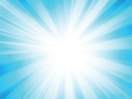 Ilustración de Blue rays background - Imagen libre de derechos