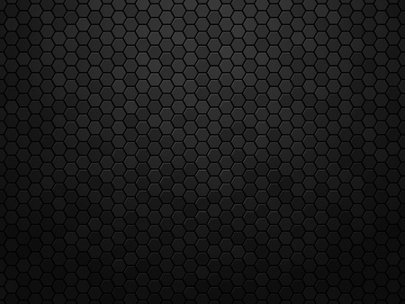 Illustration for Abstract black texture background hexagon - Royalty Free Image