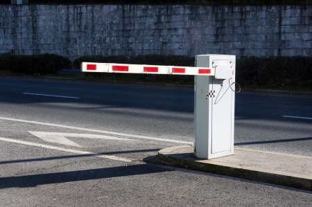 Foto de Vehicle security barrier on parking - Imagen libre de derechos