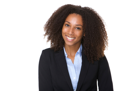 Photo pour Close up portrait of a confident african american business woman  - image libre de droit