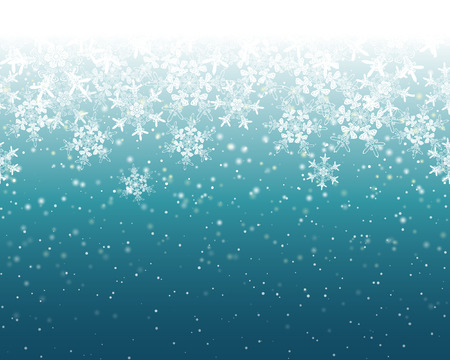 Illustration for Seamless Snowflake Background - Royalty Free Image