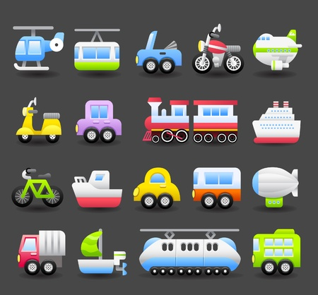 Photo pour cartoon car,vehicle icon set  - image libre de droit