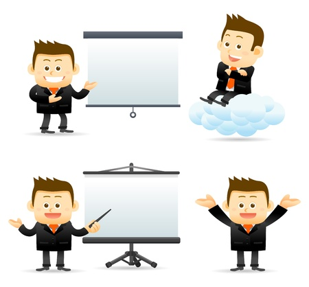 Illustration for businessman with success brief  - Royalty Free Image