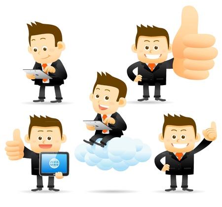 Foto de Elegant People Series - Business man ,Cloud computing concept - Imagen libre de derechos