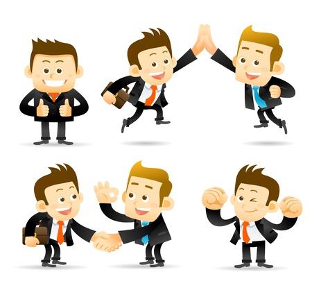 Illustration for Elegant People Series - Businessman,cooperation set  - Royalty Free Image