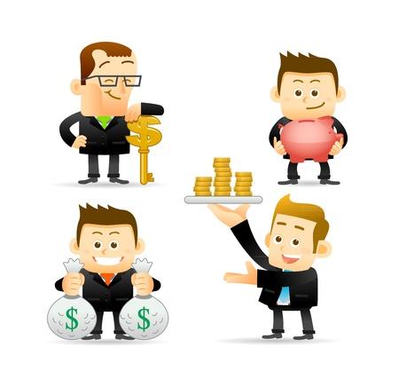 Illustration for Elegant People Series - Businessman,Finance set  - Royalty Free Image