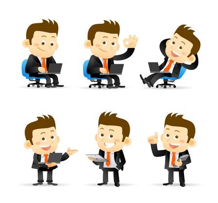 Illustration for Businessman set - Royalty Free Image