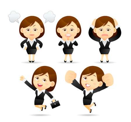Illustration pour illustration - Businesswoman set - image libre de droit