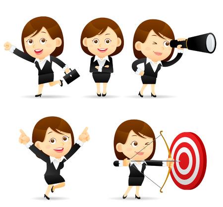 Illustration pour Vector illustration - Businesswoman set - image libre de droit