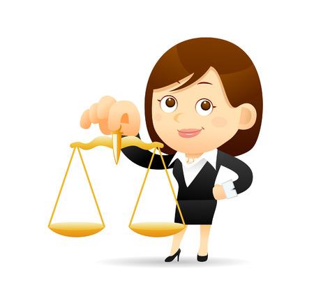 Ilustración de Vector illustration - Cartoon businesswoman character - Imagen libre de derechos