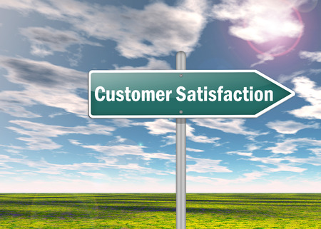 Photo for Signpost with Customer Satisfaction wording - Royalty Free Image