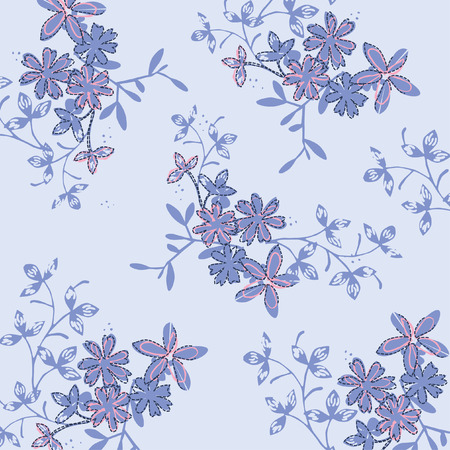 Illustration pour seamless floral pattern in vector - image libre de droit