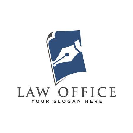 Illustration pour Law logo design vector illustration graphic design - image libre de droit
