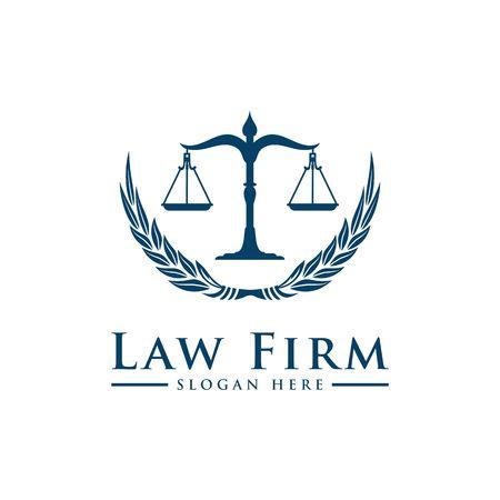 Illustration pour Luxury Law logo. Law Office. Lawyer services. Vector logo template - image libre de droit