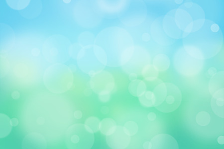 Foto de Airy background with bokeh and other lights effect on blue, green, yellow, turquoise background, nature concept - Imagen libre de derechos