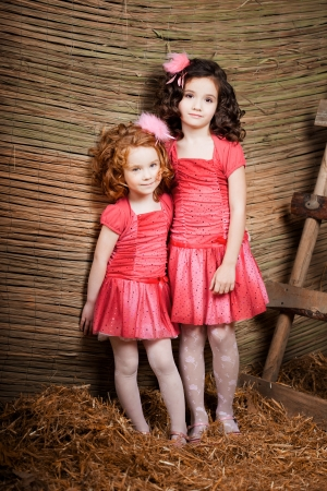 The image of two little girls, cute kids
