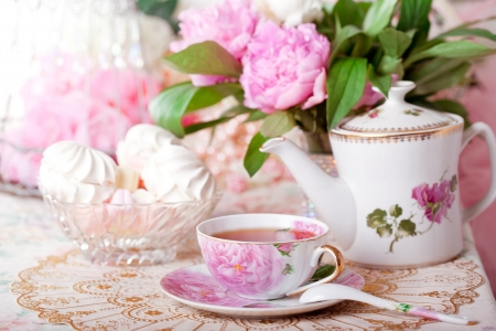 Photo for Tea in the Shabby Chic style - Royalty Free Image