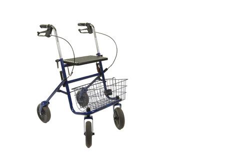 Foto de A walker with wheels isolated on a white background - Imagen libre de derechos