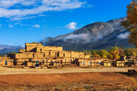 Photo for Ancient dwellings of Taos Pueblo, New Mexico - Royalty Free Image