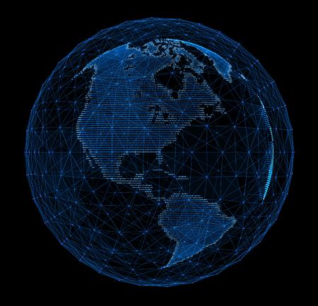 Digital planet telecommunications networks of global internet.
