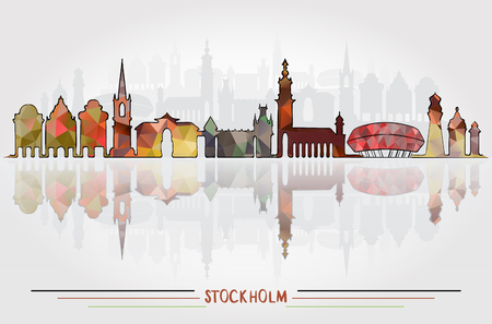 Illustration pour Vector Stockholm City background - image libre de droit