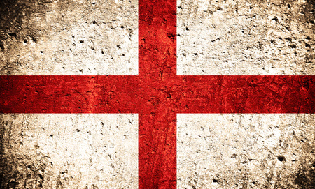 Photo for flag of England or English banner on scratched rough texture - Royalty Free Image