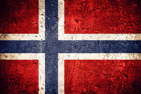 Photo for flag of Norway or Norwegian banner on scratched rough texture - Royalty Free Image