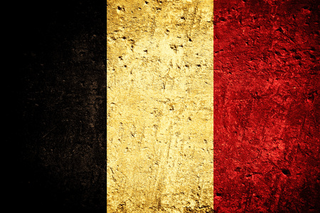 Photo for flag of Belgium or Belgian banner on scratched rough texture - Royalty Free Image