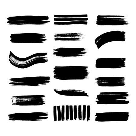 Ilustración de Collection of line texture Calligraphy brushes high detail abstract elements. - Imagen libre de derechos