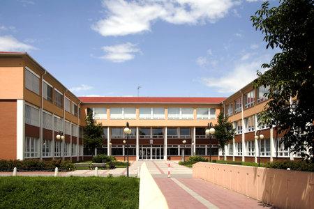 Foto de The modern new building of elementary school in Litovel, Czech Republic     - Imagen libre de derechos