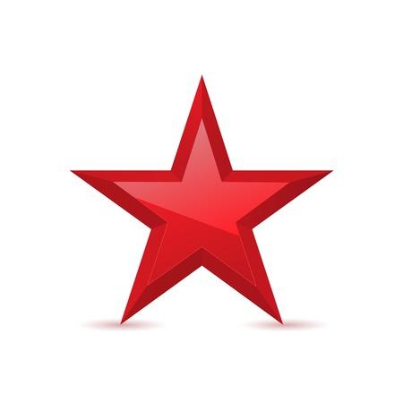 Illustration pour Red star award symbol pentagonal sign vector illustration - image libre de droit