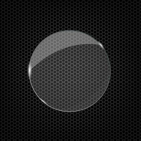 Ilustración de Glass round shape - Imagen libre de derechos