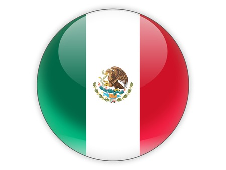 Photo for Round icon with flag of mexico isolated on white - Royalty Free Image