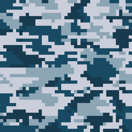 Illustration pour Digital pixel camouflage seamless pattern. Vector Texture in winter colour - image libre de droit