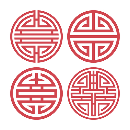 Illustration for Set of vector Korean traditional design elements - Royalty Free Image